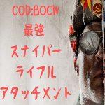 COD:BOCW スナイパーライフル おすすめ 強武器 TTK アタッチメント